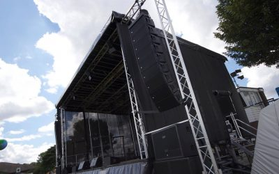 Main Stage UK. We have added a brand new RCF Line Array  to our hire stock